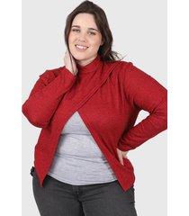 sweater rojo minari nicole plus size