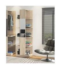 estante roupeiro industrial be mobiliário tog c/ espelho e prateleira