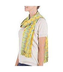 cotton scarf, 'atitlan diva' (guatemala)