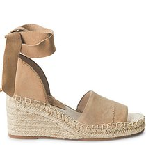 malissa suede ankle-tie wedge sandals