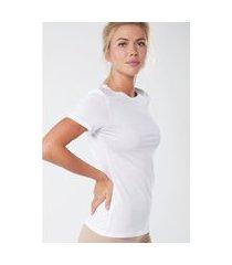 blusa de manga curta em algodão supima® intimissimi algodão supima branco