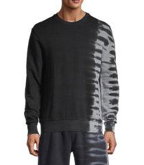 eleven paris men's tie-dye crewneck sweatshirt - black - size m