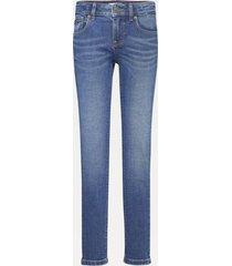 jeans nora ceñidos efecto desteñido azul tommy hilfiger