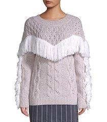 ulla fringe wool sweater