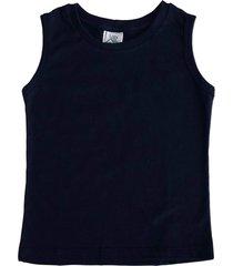 camiseta regata malha flame com punho lazy azul marinho