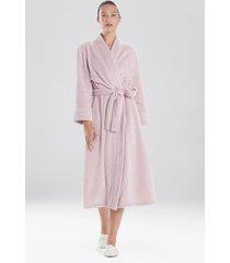 embossed waves sleep/lounge/bath wrap/robe, women's, purple, size l, n natori