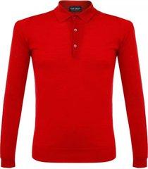 john smedley tyburn sport garnet red polo top 021
