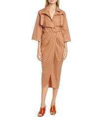 women's johanna ortiz belted midi trench dress
