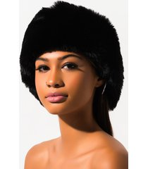 akira posh girl faux fur wrap around headband