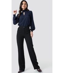 trendyol classic highwaist pants - black