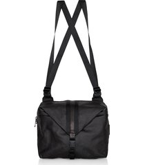 côte & ciel designer men's bags, black coated canvas yakima backpack
