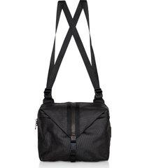 côte & ciel designer men's bags, black coated canvas yakima backpack