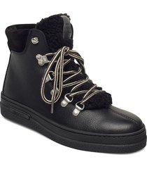 breonna mid lace boot shoes boots ankle boots ankle boot - flat svart gant