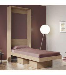 cama de solteiro manhattan articulável 2 nichos montana - art in móveis