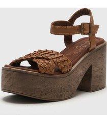 sandalia de cuero suela citadina sentra