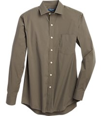 cole haan grand.øs olive stripe sport shirt