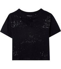 camiseta john john spray malha preto feminina (preto, gg)