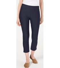 eileen fisher slim washable crepe cropped pants, regular and petite