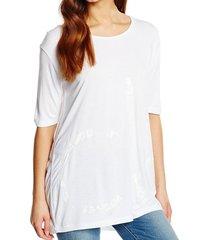 calvin klein soepel wit langer loose fit shirt