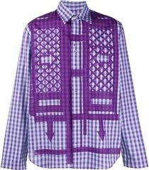 craig green flatpack print shirt - purple