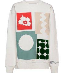 ptolemaios shirt sweat-shirt trui crème marimekko