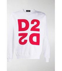 dsquared2 mirrored logo crew-neck sweatshirt