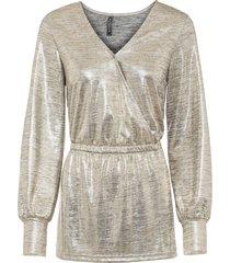maglia glitterata a portafoglio (oro) - rainbow