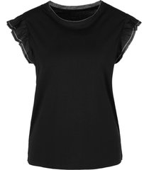 marc cain t-shirt met ruches