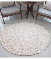 .tapete algodão par sala/quarto - redondo - 1,50 x 1,50 - cor cru
