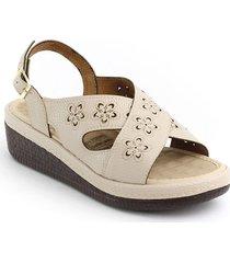sandalia casual tipo confort para dama 6922226beige