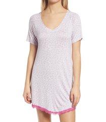 women's honeydew intimates all american sleep shirt, size large - purple