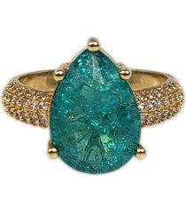 anel papillô joias gota fusion turmalina, em ouro 18k