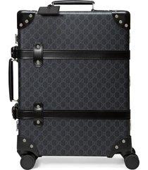 gucci gg supreme print suitcase - black