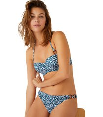 top bikini animal print con relleno multicolor women secret 5985501 copa-b9800