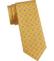 rabbit-print silk tie
