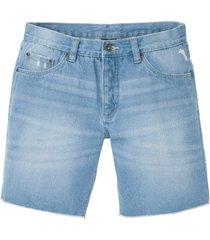 shorts di jeans lunghi regular fit (blu) - rainbow