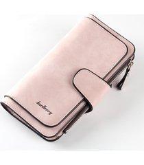 billetera mujer retro cartera gamuza nobuck porta tarjetas