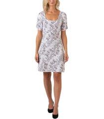 black label women's plus size sequin snake print puff sleeve sweater dress