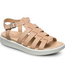 flowt lx w shoes summer shoes flat sandals beige ecco