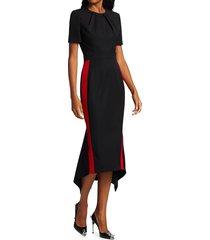 alexander mcqueen women's short-sleeve wool sheath dress - black - size 36 (0)