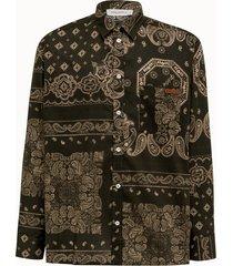 golden goose deluxe brand camicia houston motivo paisley