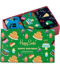 strumpor 3-pack happy birthday socks gift set