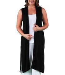 women's plus size long cardigan vest