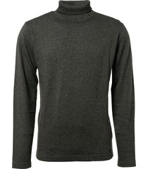 pullover roll neck, 2 colour twiste steel