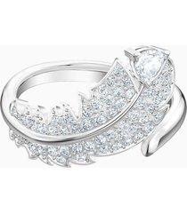 anillo con motivo nice, blanco, baño de rodio 5515030