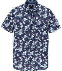 overhemd print blauw