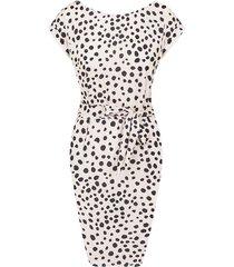 cheetah strik jurk beige