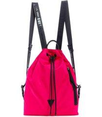 mochila kody drawstring backpack rosado guess
