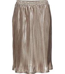 plisserad kjol med metallic-effekt