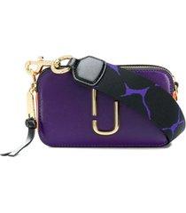 marc jacobs bolsa transversal de couro - roxo